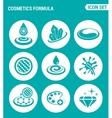 set of round icons white Cosmetics formula vector image vector image
