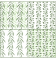 Set of seamless pattern branches of eucalyptus and vector image