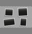 set photo frames mockup with shadow vector image vector image