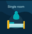 single room flat concept icon vector image vector image