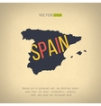 spain map in vintage design Spanish border vector image vector image