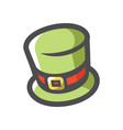 st patricks day green hat icon cartoon vector image