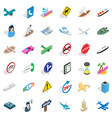 traffic icons set isometric style vector image vector image