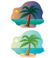 tropical island vacation vector image