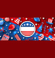usa background for american holidays vector image