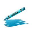 vector illustration of crayon drawing on the sheet vector image vector image