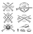 Vintage clay target labels emblems design elem