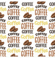vintage coffee shop labels seamless pattern vector image vector image