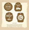 vintage sale labels or banners design vector image vector image