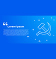 white line hammer and sickle ussr icon isolated on vector image vector image