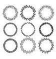 wreaths hand drawn collection vector image vector image