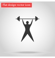 Young man athlete raises the bar vector image vector image