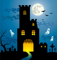 halloween house new vector image