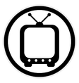 TV button on white vector image