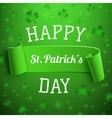 Saint Patricks Day greeting card Background vector image