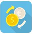 Exchange icon vector image