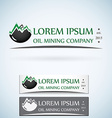 OIl gas company logo design template color set vector image