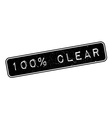 100 percent clear rubber stamp vector image vector image
