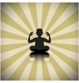 Abstract meditating people background vector image vector image