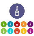alcohol icons set color vector image vector image