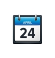 April 24 Calendar icon flat vector image vector image