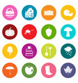 autumn icons many colors set vector image