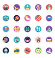 baby and kids flat icons pack vector image