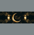 beautiful islamic decorative eid mubarak festival vector image
