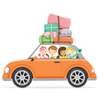 Boy And Girls Driving Car To Travel vector image vector image
