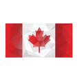 canada flag low poly design vector image