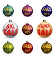 Colorful Christmas balls discount vector image vector image