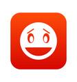 confused emoticon digital red vector image vector image