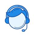 customer service line icon vector image vector image