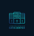data center server room hosting vector image vector image