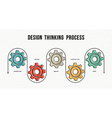 Design thinking process concept design in line art vector image vector image