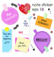 different note stickers set vector image