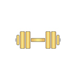 Dumbbell computer symbol vector image vector image