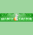 easter banner template vector image