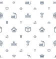 environment icons pattern seamless white vector image vector image