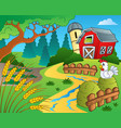 farm theme with wheat vector image