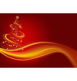 Fiery Christmas Tree vector image vector image