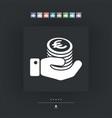 financial icon - euro vector image