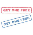 get one free textile stamps vector image