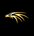 gold eagle head logo vector image