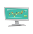 Growing business graph on computer monitor vector image