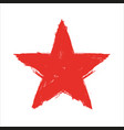 grunge red star texture vector image