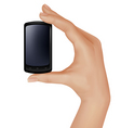 hand with telephone vector image vector image