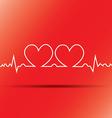 heart beats cardiogram vector image vector image