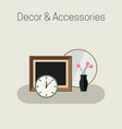 home decor and accessories vector image
