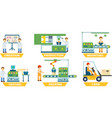 industrial manufacture isolated set vector image